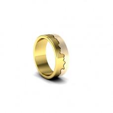 Обручальное кольцо из комбинированного золота 'Пазл'