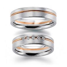 Обручальное кольцо из комбинированного золота