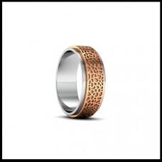 Обручальное кольцо из красного и белого золота