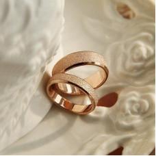 Обручальное кольцо из красного золота с матовой поверхностью