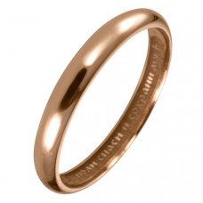 Обручальное кольцо из красного золота с молитвой