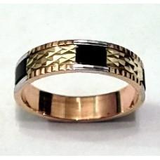 Обручальное кольцо из красного золота с турмалином