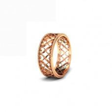 Обручальное кольцо из красного золота 'Сердечки'