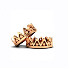 Обручальное кольцо из красного золота