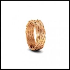Обручальное кольцо из розового золота 'Плетенное'