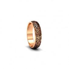 Обручальное кольцо из розового золота с чернением