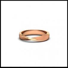 Обручальное кольцо из розового золота с изгибом