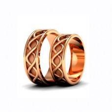 Обручальное кольцо из розового золота