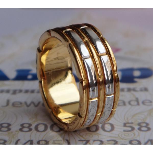 Обручальное кольцо из серебра с позолотой