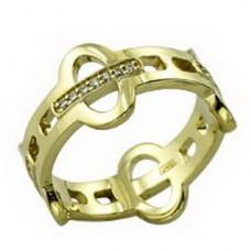 Обручальное кольцо из зеленого золота с бриллиантами