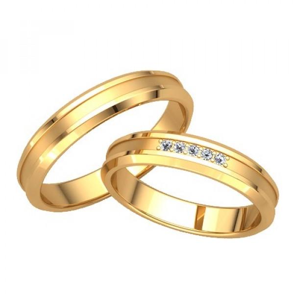 Обручальное кольцо желтого золота