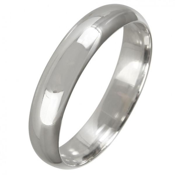 """Обручальное кольцо """"Классическое"""" из белого золота"""