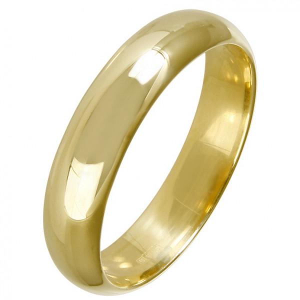 """Обручальное кольцо """"Классическое"""" из желтого золота"""