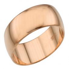"""Обручальное кольцо """"Классическое"""" из красного золота"""