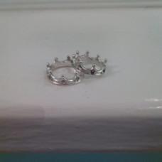 Обручальное кольцо 'Корона' из белого золота с бриллиантами