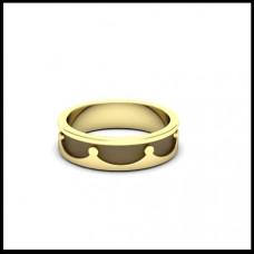 Обручальное кольцо 'Корона' из желтого золота с чернением