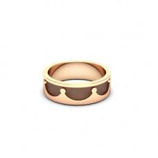 Обручальное кольцо 'Корона' из розового золота с чернением
