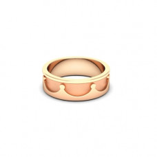 Обручальное кольцо 'Корона' из розового золота