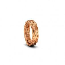 Обручальное кольцо 'Косичка' из розового золота