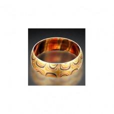 """Обручальное кольцо """"Мокуме Гане"""" из комбинированного золота"""