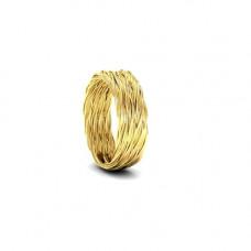 Обручальное кольцо 'Плетение' из желтого золота