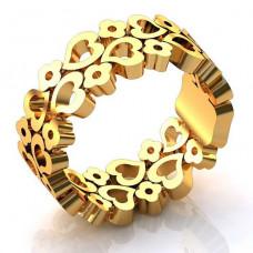 Обручальное кольцо 'Романтика' из желтого золота