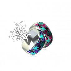 """Обручальное кольцо с эмалью 'Ящерица"""""""