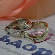 Обручальное кольцо с Галочкой из белого золота