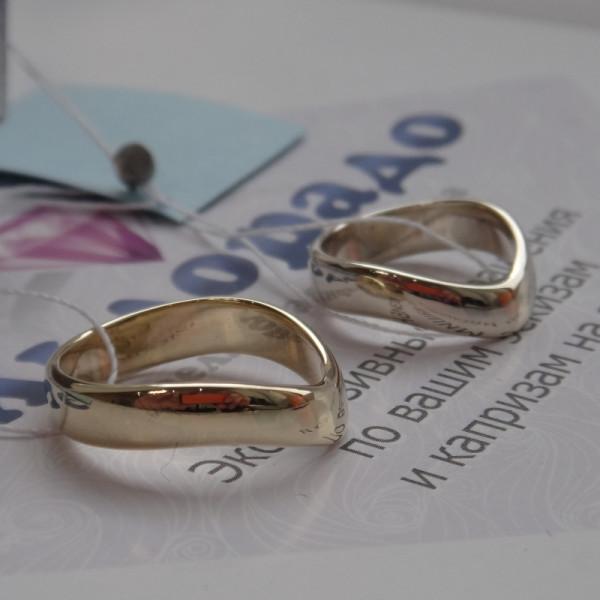 Обручальное кольцо с Галочкой из жёлтого золота