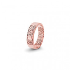 Обручальное кольцо с отпечатком пальца из белого золота