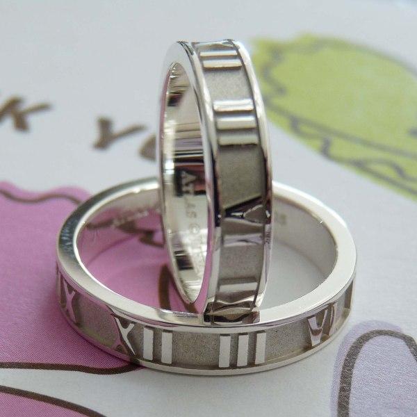 """Обручальное кольцо """"Tiffany Atlas"""" из белого золота с бриллиантом"""