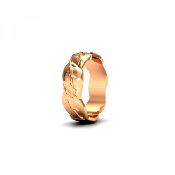 Обручальное кольцо 'Веточка' из красного золота