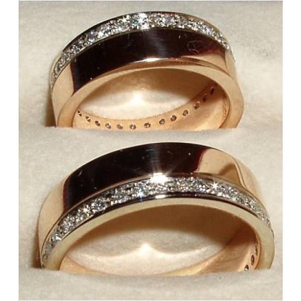 Обручальное кольцо золота с бриллиантами