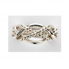 Плетеное кольцо из белого золота