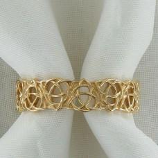 Плетеное кольцо из желтого золота