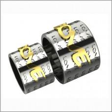 """Широкое обручальное кольцо из комбинированного золота 'LOVE"""""""