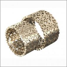 Широкое обручальное кольцо из красного золота с узором