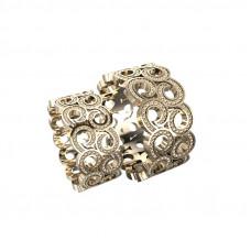 широкое обручальное кольцо из красного золота в виде узора